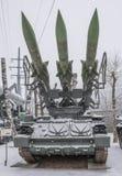 2P25-Installation del misil antiaéreo 2K12 complejo Fotos de archivo