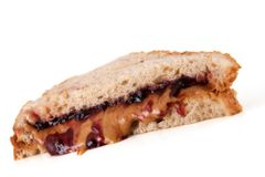 P & J Sandwich Royalty Free Stock Photography
