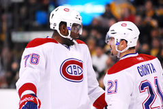 P.K. Subban and Brian Gionta Montreal Canadiens Royalty Free Stock Photography