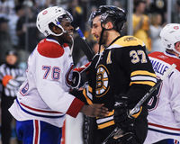 P.K. Subban and Patrice Bergeron, Stock Images