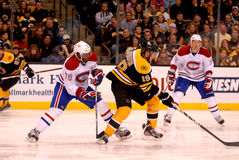 P.K. Subban and Tyler Seguin (Bruins v. Canadiens) Stock Photos