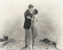 På kanten av romans Arkivbild