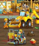 På konstruktionsplatsen - illustration för barnen Royaltyfri Foto
