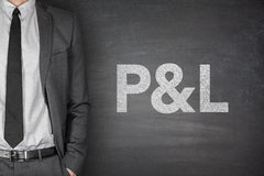 P&L on blackboard Stock Images