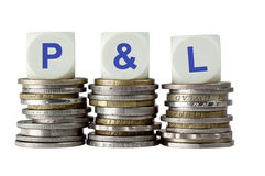 P&L - De profits et pertes photos libres de droits