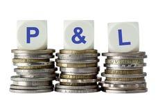 P&L - Profitti e perdite fotografie stock libere da diritti