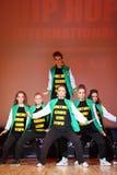 P.L.U.R. dança da equipe no copo do International de Hip Hop Fotos de Stock
