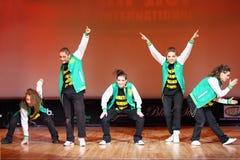 P.L.U.R. dança da equipe no copo do International de Hip Hop fotografia de stock royalty free