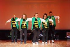 P.L.U.R. dança do grupo no copo do International de Hip Hop Foto de Stock Royalty Free