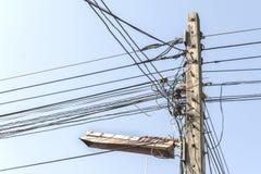 Pôle électrique Photographie stock libre de droits