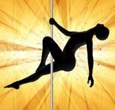 Pôle dansant l'abstrait jaune Photographie stock