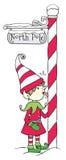 Pôle Nord Elf illustration stock