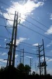 Pôles électriques Photos libres de droits