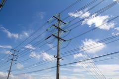 Pôles électriques Photographie stock