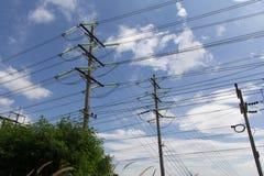 Pôles électriques Images stock