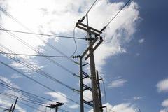 Pôles électriques Photographie stock libre de droits