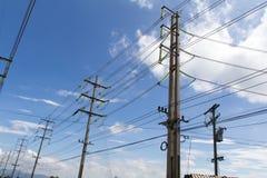 Pôles électriques Image stock