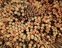 Pôles en bois de frontière de sécurité Image stock