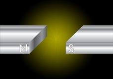 Pôles magnétiques du nord et de sud Image stock