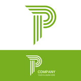P letter  logo design Royalty Free Stock Photography
