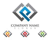 P Letter Property Logo Template. Vector icon Royalty Free Stock Photo