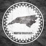 P?lnocna Karolina stanu mapa royalty ilustracja