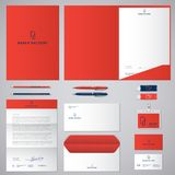 P logo and identity. Roll of paper logo. Envelope, folder, cover, letterhead, letter, pens, pencils, badges and business cards. P logo and identity. Roll of Stock Photos