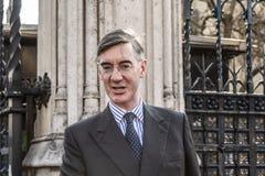 P.M. conservadora Jacob Rees-Mogg imagenes de archivo