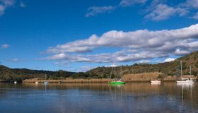 Life on the Guadiana river, costum between Portugal and Spain stock photos