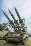 2P25M1-Launcher (3M9M3 pocisk) przeciwlotniczy system rakietowy 2K1 Zdjęcia Royalty Free