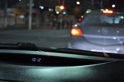 10: 12 P.M. Nachtreise Stockbilder