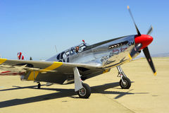 P51 Mustang Fighter Stock Photo
