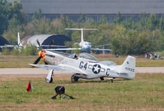 P-51 Mustang fighter plane Stock Photos