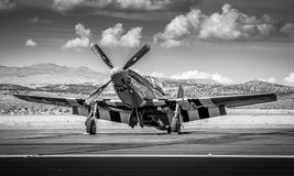 P-51 mustang Front Right View Fotografia Stock