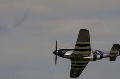 P-51 Mustang shows it's stripes Royalty Free Stock Images