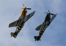 P-51 Mustang and Spitfire Royalty Free Stock Photography