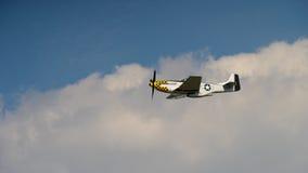P51 mustang w chmurach fotografia royalty free