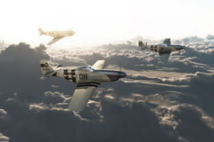P51 mustangs Royalty Free Stock Image