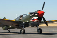 P40-N Kittyhawk taxis for display Royalty Free Stock Image