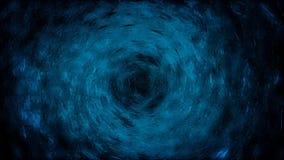 P?n?tration dans la boule de l'eau animation Forme abstraite de boule se composant de l'eau sur le fond d'isolement noir illustration stock