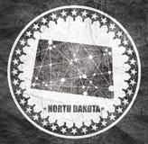 P??nocna Dakota stanu mapa obraz royalty free