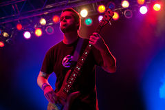 P-Nut of 311 in Concert Stock Photography