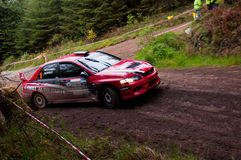 P. O' Connell driving Mitsubishi Evo Royalty Free Stock Images