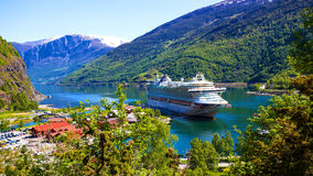 P&O cruise liner in Flam, Norway Stock Images