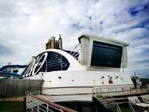 P&O Cruises - Pacific Explorer. Australia P&O Cruise and its logo stock photos