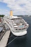 P&O Oriana cruise ship. Empty P&O cruise ship Oriana in dock as outbreak of norovirus on board Stock Photos