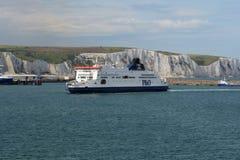 P&O veerboottrots van Kent in Dover Kent het UK Stock Fotografie