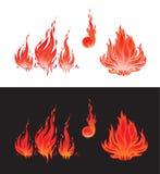 płomieni symbole Zdjęcie Stock