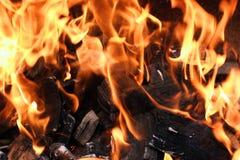 płomienia grill Obraz Royalty Free
