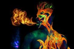 Płomienia serce Zdjęcie Stock